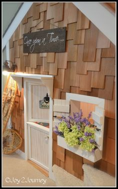 Under stairs playhouse tutorial.  I think this would be great as a pantry or laundry also.