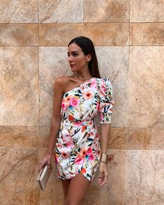 18 Beach Wedding Guest Dresses ❤ beach wedding guest dresses short assymetric neckline floral with one shoulder rocio sorno wedding outfit 18 Beach Wedding Guest Dresses Beach Wedding Guest Attire, Summer Wedding Outfits, Summer Wedding Guests, Best Wedding Guest Dresses, Wedding Guest Looks, Boho Wedding Dress, Wedding Bride, Wedding Dresses For Guests, Beach Formal Attire