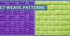Basketweave is a fun combination of knit and purl stitches. Here are some patterns - perfect for beginner knitters.