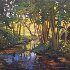 Jan Schmuckal - WetCanvas: Online Living for Artists Landscape Paintings, Abstract Landscape, Paintings I Love, Tree Art, Art And Architecture, Painting Inspiration, Watercolor Art, Images, Illustrations