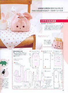 59 Ideas basket pattern ideas for 2019 Japanese Bag, Japanese Sewing, Sewing Tutorials, Sewing Crafts, Sewing Patterns, Sacs Tote Bags, Craft Projects, Sewing Projects, Diy And Crafts