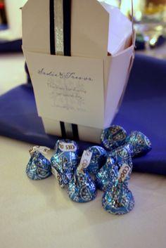 Winter Candy Bar Favor Wedding