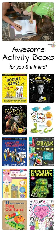 Awesome Activity Books for Kids (Especially Tweens) -- this is a fun way to spend time with a friend or learn something new by yourself