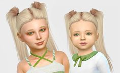 Lana cc finds - leahlillith bling pushed back - toddler version sims challenge, sims 4 The Sims 4 Kids, The Sims 4 Bebes, Sims 4 Children, Sims 4 Cc Skin, Sims Cc, Toddler Hair Sims 4, Toddler Girls, The Sims 4 Cabelos, Pelo Sims