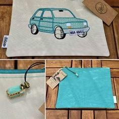 Maluchowa Saszeta 🚘💙👛💼👝😍😻📷😘#nelamiko #turquoise #takemeonajourney #trip #roadtrip #road #car #auto #maluch #fiat126p #blue #bluelover #sachet #handmade #handmadebags #antique #style #retro #retrocar #prl #loveit #picoftheday #beauty #cute #embroidery Fiat 126, Retro Cars, Handmade Bags, Road Trip, Turquoise, Embroidery, Antiques, Cute, Beauty