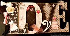 """A wedding theme """"Word"""" album...mini series on how to make these fun scrapbooks. They make awesome gifts!"""