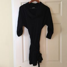 Express cowl neck sweater dress ✳️Good condition. No pilling or fading Express Dresses Midi