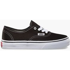 Vans Authentic Boys Shoes (240 HRK) ❤ liked on Polyvore featuring shoes, sneakers, vans trainers, lace up shoes, laced shoes, vans sneakers and low profile shoes