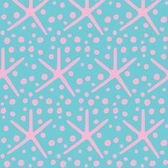 spotty dotty starfish (pink & deep aqua)