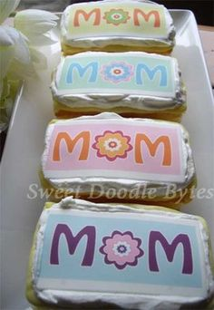 Tutorial for Mother's Day Lemon Pudding Filled Angel Food Cakes on our blog. www.sweetdoodlebytes.com/blog.html