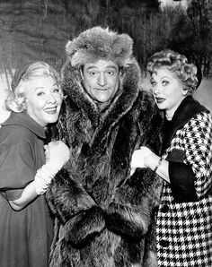Lucy with Vivian Vance & Red Skelton - probably a guest appearance by Red on The Lucy Show. - undated.