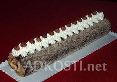 Oříšková roláda s tatrankovou náplní Swiss Cake, Nutella, Tiramisu, Jelly, Treats, Sweet, Ethnic Recipes, Cakes, Pineapple