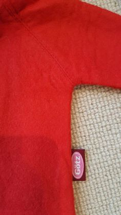 The red duffle coat for Annett has a Gotz tag on the side Duffle Coat, The Originals, Red, Outfits, Suits, Kleding, Peacoats, Outfit, Outfit Posts