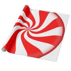 Peppermint Candy Gift Wrapping Paper