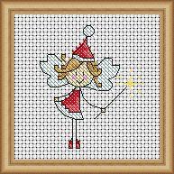 Festive fairy chart by WOXS designer, Lucie Heaton