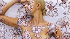 Body Paint Art.  cool idea!