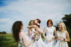 White Magazine: Issue Emma Soup Bridal Shoot photography by Justin Aaron. Gorgeous Wedding Dress, Dream Wedding, Bridesmaid Dresses Floral Print, Always A Bridesmaid, Wedding Photography Inspiration, Photography Ideas, Bridesmaids And Groomsmen, Bridal Shoot, Wedding Moments