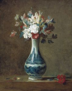 Jean-Simeon Chardin - A Vase of Flowers, 1750