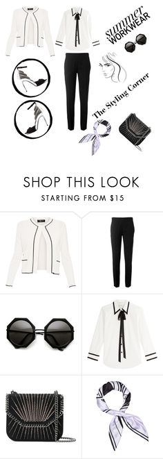 """""""Black & White"""" by the-styling-corner ❤ liked on Polyvore featuring Paule Ka, Chloé, Marc Jacobs, STELLA McCARTNEY, Givenchy, black, blazer, formalwear, summerworkwear and TheStylingCorner"""