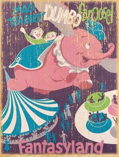 Giclee Printed Dumbo Attraction Poster by faisonstout on Etsy