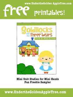 Free for preschoolers-K with Goldilocks and the Three Bears Theme!