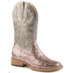 Womens Boulet Black Stingray Square Toe Cowboy Boots | AA ...