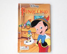 Ladybird Disney Pinocchio Book, Vintage Walt Disney Film Ladybird Book, Gloss Hardback, 1995, 00634