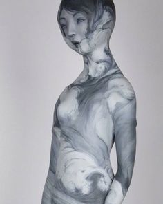 """@gosiafineart. """"Beneath The Waves""""  Gosia is a polish sculptress who's work I discovered when I found myself using her studio for a photo session a few years ago. The waif-like figures she sculpts out of clay and various materials remind me of classical Japanese dancers in repose. Haunting and elegant. Sometimes they are draped in floral patterns, encrusted with sea coral, or decaying like an ancient relic. This is work that stays with you. The piece I chose to feature here is one that I saw…"""