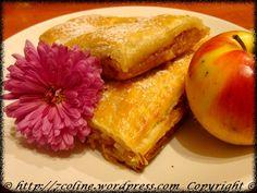 placinta cu mere cu aluat foitaj French Toast, Deserts, Breakfast, Food, Sweets, Morning Coffee, Essen, Postres, Meals
