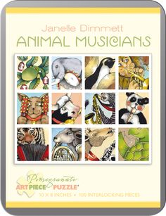 Animal Musicians Cats Collectible Packaging