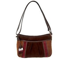 Tignanello Suede Colorblock Convertible Crossbody Bag