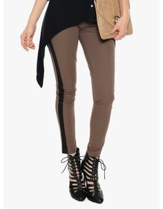 Side Line Leggings  Chocolate