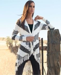 INC International Concepts Open-Front Striped Fringe Cardigan is on sale now for - 25 % ! is on sale now for - 25 % !