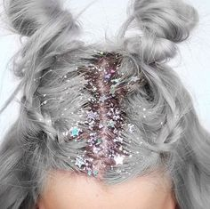 Glitter roots and buns                                                                                                                                                                                 More                                                                                                                                                                                 More