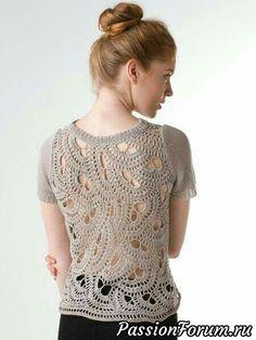 Fabulous Crochet a Little Black Crochet Dress Ideas. Georgeous Crochet a Little Black Crochet Dress Ideas. Gilet Crochet, Crochet Jacket, Freeform Crochet, Crochet Cardigan, Irish Crochet, Easy Crochet, Knit Crochet, Crochet Fabric, Crochet Tops