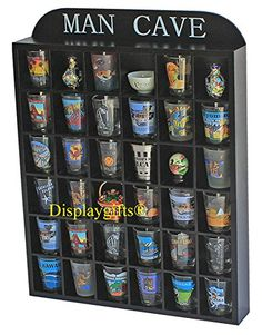 MAN CAVE Shot Glass Display Shelf  NO DOOR -- To view further for this item, visit the image link.