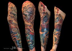 vic's sleeve tattoos by robert witczuk Colour Tattoos, Sleeve Tattoos, Color, Tattoo Sleeves, Colour, Arm Tattoo, Arm Tattoos, Shoulder Sleeve Tattoos, Colors