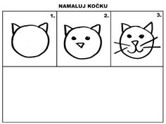 Pro Šíšu: Pracovní listy MALUJEME Cat Drawing, Drawing For Kids, Children Drawing, Class Projects, Projects For Kids, Childrens Ebooks, Directed Drawing, Jolly Phonics, Preschool Learning Activities