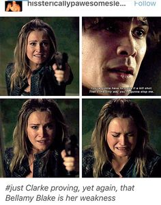 It's more than that though. She said that she couldn't let him open the hatch because she was trying to save humanity. She has sacrificed so many lives for the same reason, but Bellamy is more important to her than all of it. She couldn't sacrifice him.
