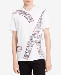 Calvin Klein Jeans Men's Ck Oversized Graphic T-Shirt, A Macy's Exclusive Style - White XL Guess Shirt, T Shirt, Calvin Klein Jeans, Polo Club, Mens Fashion, Style Men, Stylish, Cotton, Mens Tops