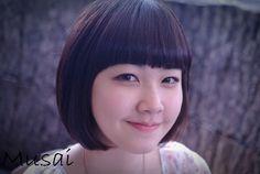 앞머리있는 단발머리 볼륨매직_뮤사이 아라샘♥