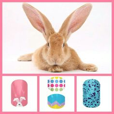 Easter Jamberry nails
