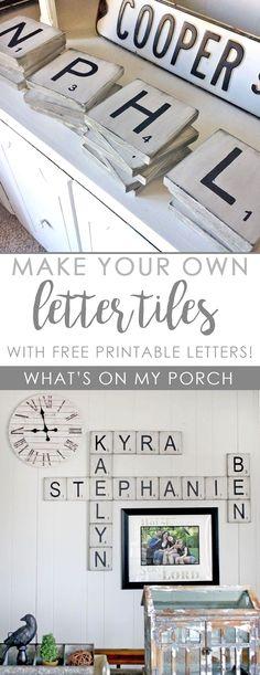 Scrabble printable …   Pinterest