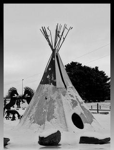 Teepee in the snow.... by Gdnght1, via Flickr