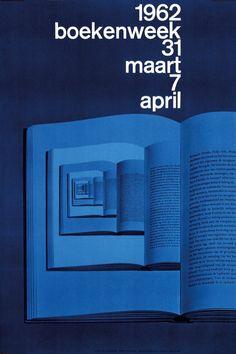 Wim Crouwel, boekenweek, 1962