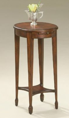 Accent Furniture - Coventry Accent Table - Cherry Finish - Pedestal Table - Side Table Kensington Row Furniture Collection http://www.amazon.com/dp/B00DPK7NN4/ref=cm_sw_r_pi_dp_wJv2ub0PE8P3H