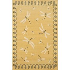 "Whimsy Dragonfly Outdoor Rug-7'10""x9'10"" - Aqua - Improvements"