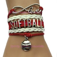 Softball équipe cadeau Bracelet par SportsTeamBracelets sur Etsy