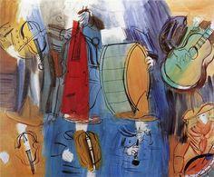 The Mexican Musicians, 1951-Raoul Dufy - by style - Naïve Art (Primitivism)