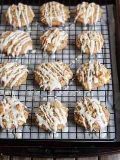 Iced Oatmeal and Apple Cookies (made with applesauce!) by Completely Delicious